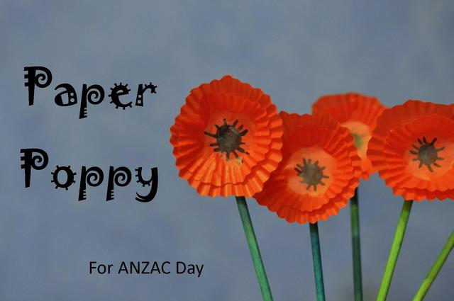 Paper Poppy for ANZAC Day | pumpkin patch